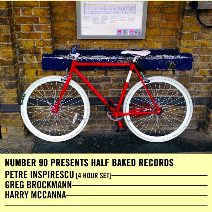 Number 90 Presents Half Baked Records Showcase – 09.04.16